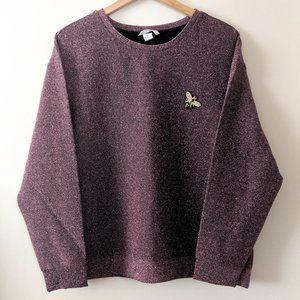 H&M pink glitter jumper